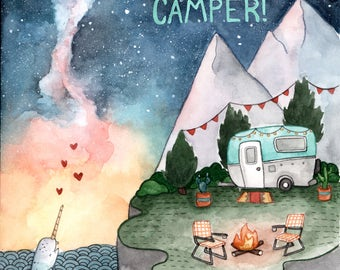 Happy Birthday Camper Card