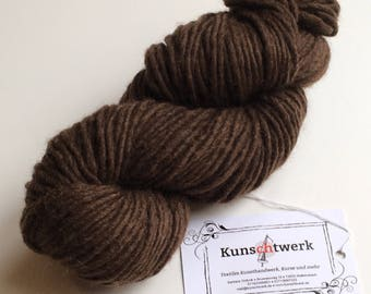 Chocolate Brown-100% virgin wool, hand dyed with plant colors