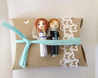 Figurines à dragées mariage figurines personnalisées votre portrait cadeau invité cadeau