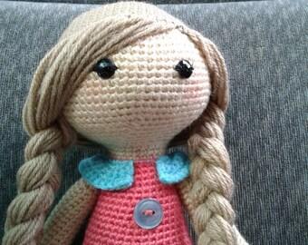 Super cute amigurumi crochet rag doll ready to ship