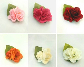 Flower Hair Clip Set Of Two