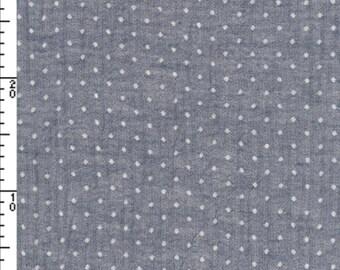 Kokka Yarn Dyed Dobby Fabric ~ Polka Dots Grey Fabric ~ 100% Cotton Fabric ~ Japanese Fabric ~ Kokka Fabric ~ Quilt Fabric ~ Apparel Fabric