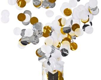 JUMBO CONFETTI - White, Silver, Gold