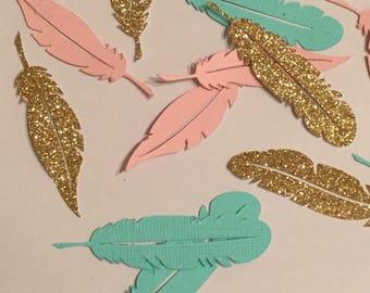 Bohemian feather confetti