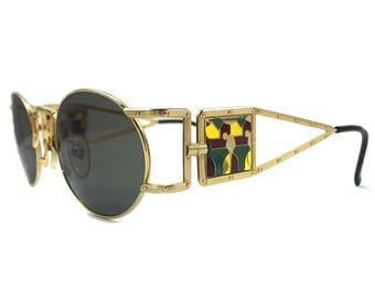 Jean Paul Gaultier 56-4672 Gold Metal / Vintage Sunglasses / NOS