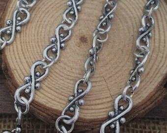 90cm antique silver  Chain 6mm wide