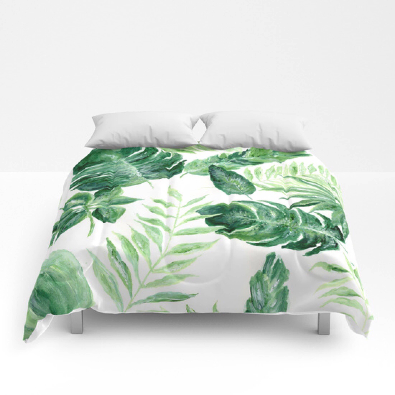 Tropical Leaf forter green white forter leaf full