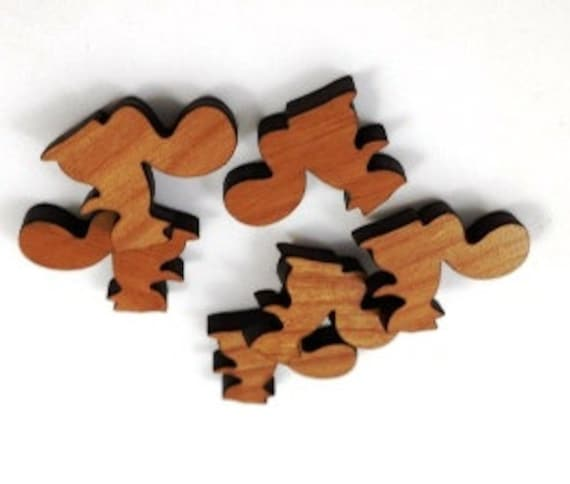 Laser Cut Supplies-8 Pieces.Squirrel Charms - Laser Cut Wood Squirrel -Earring Supplies- Little Laser Lab Sustainable Wood Products