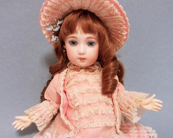 """Jumeau Doll by Butler/ Reproduction of Antique Bisque French """"Long Face"""" Jumeau Doll"""
