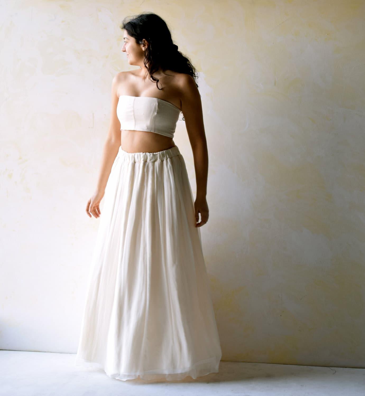 Beach Wedding Dress Two pieces dress Alternative Wedding