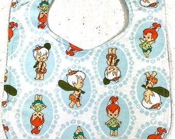Flintstones Baby bib - Pebbles - Bam Bam - infant bib - dribble bib - baby girl bib - baby boy bib - baby gift