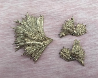DORE marked set  Brooch and earrings  UNIQUE items!!