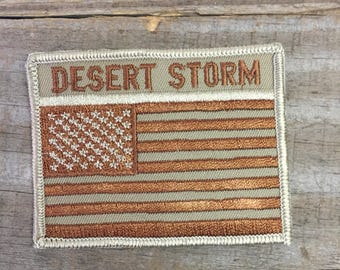 Desert Storm Flag Patch- Free Shipping