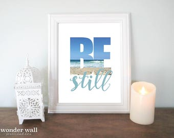 Be Still Image in Text -Psalm 46:10  Turquoise Beach