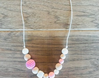 Pink Teething Necklace for Mom