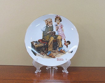 Norman Rockwell Plate, The Cobbler
