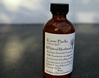 Lemon & Spice Mouth Wash  VEGAN All Natural No Chemicals Helps Fight Cavities Made with Trace Minerals
