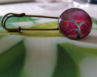 tree of life pin pink