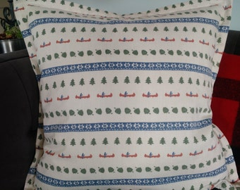 Clearance !! CABIN COLLECTION CANOE Pinecone Firs Pillow Cover