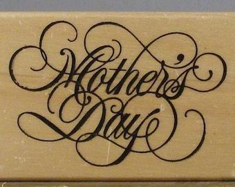 Large Elegant MOTHER'S DAY Rubber Stamp