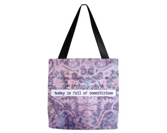 Farmers Market Tote Bag, Inspirational Quote, Canvas Book Bag, Canvas Tote Bag, Everyday Tote Bag, Library Book Bag, Library Tote Bag