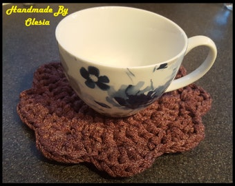 Coasters- Raspberry Mix Crochet Coasters Set of 4