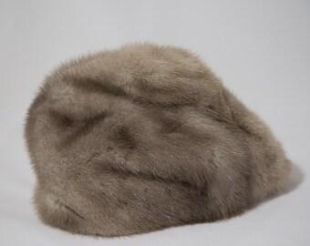 Vintage Silver Mink Fur Canadian Hat