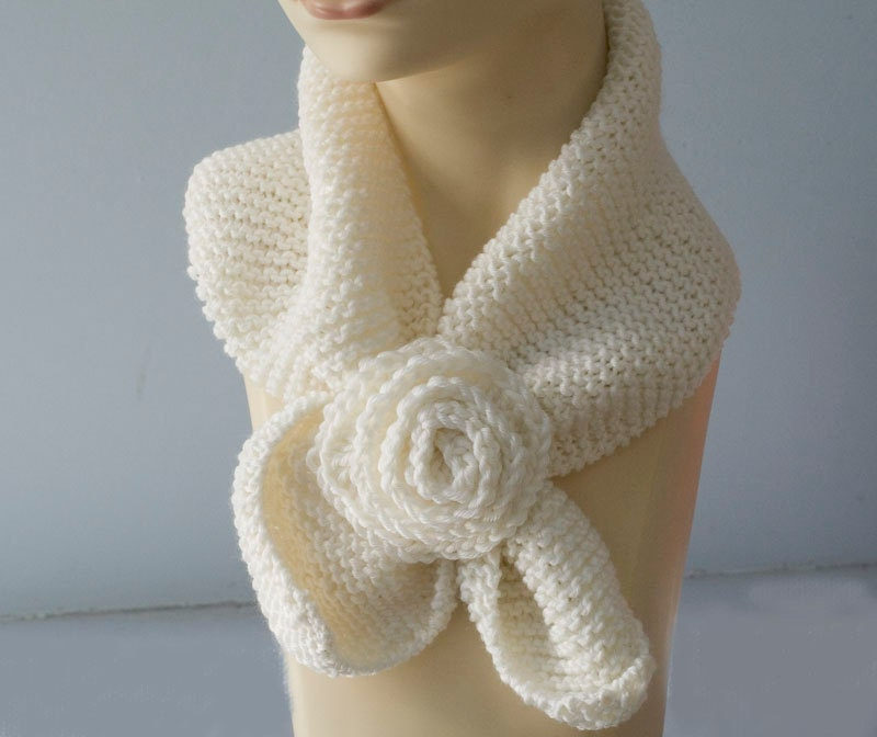 Hand Knit Scarf Custom Choose Color Winter Accessories