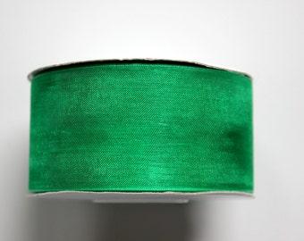"1 1/2""Organza Ribbon - Emerald Green - 25 yard Spool"