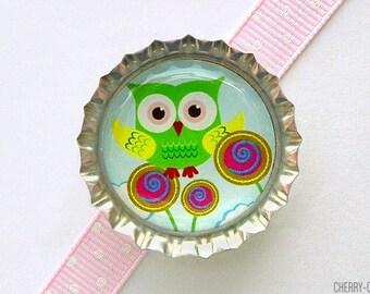 Owl Magnet, Bottle Cap Magnet, girl boy owl baby shower favor, owl favors, owl party favors, fridge magnets, unique party ideas, owl theme