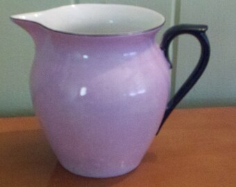 Vintage Pink Lusterware  Pitcher from Czech Republic Marked Union K