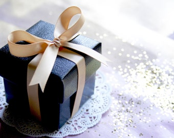 Favor Boxes BULK with Luxury Satin Ribbon, 8 COLORS