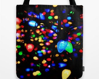 Tote Bag, Christmas Tote Bag, Christmas Tote, Christmas Tote Bag, Canvas Tote, Large Tote, Market Tote, Book Bag, Colorful Bag