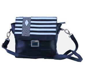 black leather side bag, messenger leather bag, leather messenger bag, cross-body bag, leather cross body, women cross body, free shipping