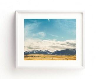 """Landscape wall art, large art, large landscape art prints, large wall art, landscape photography, mountain landscape -""""Springtime Skies"""""""