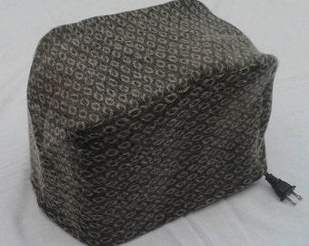 Khaki green 2 slice toaster cover, ready to ship