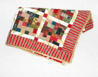 Patchwork Baby Quilt, Multi Colored Tiles