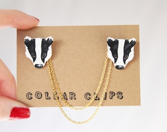 Collar Clips: Badgers