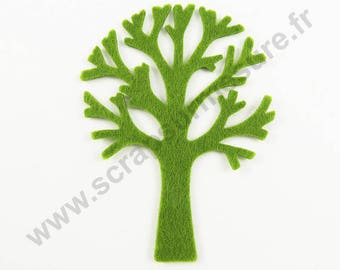 Felt - Tree green - 3 pcs x