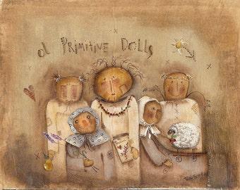 Ol' Primitive Dolls by Terrye French, E-Pattern