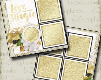 THE WEDDING - Six - 2 Premade Scrapbook Pages - EZ Layout 662