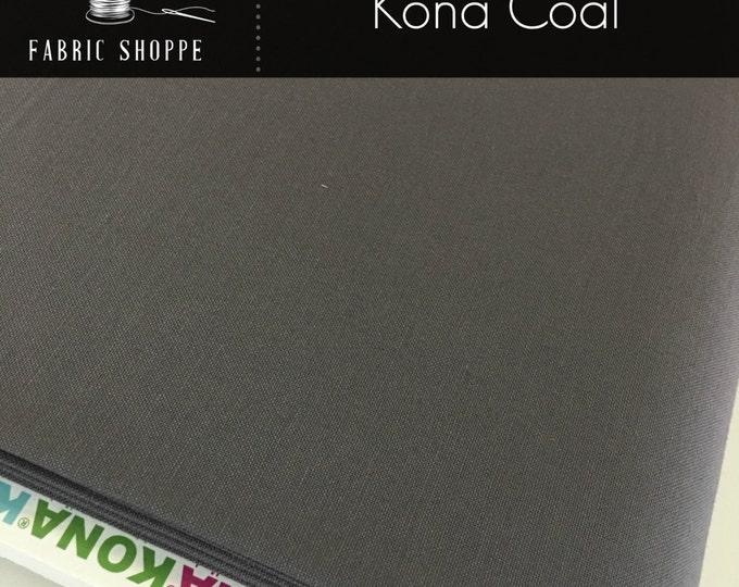 Kona cotton solid quilt fabric, Kona COAL 1080, Gray fabric, Solid fabric Yardage, Kaufman, Cotton fabric, Choose the cut