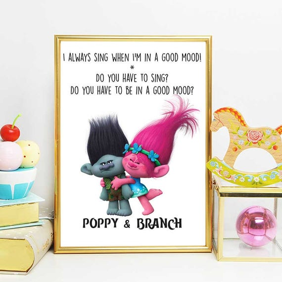 Trolls Birthday Trolls Print Poppy And Branch Quote Nursery