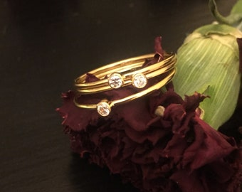 Cubic Zirconium stackable rings