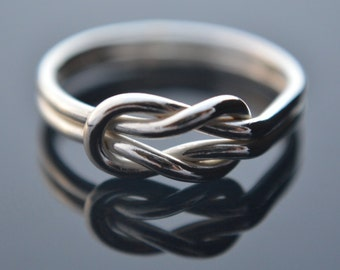 Sailors Knot, Sterling Silver, Infinity Ring, Sterling Silver Wire Ring, Promise Ring, Love Knot, Sterling Silver 925
