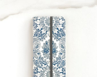 Boho Wallet Case, iPhone 8 Plus Wallet Case With Card Holder, iPhone X Wallet Indigo Blue, iPhone 7 Wallet, iPhone 7 Plus Cover iPhone 6S