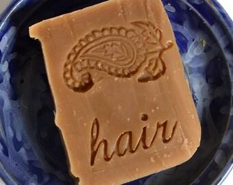 Henna Shampoo Bar with Jojoba - Unscented Shampoo Bar - Vegan Shampoo Bar