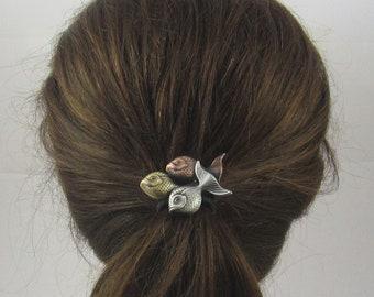TROPICAL FISH Ponytail Holder- Hair Accessories- Ties and Elastics- Beachwear- Cruisewear