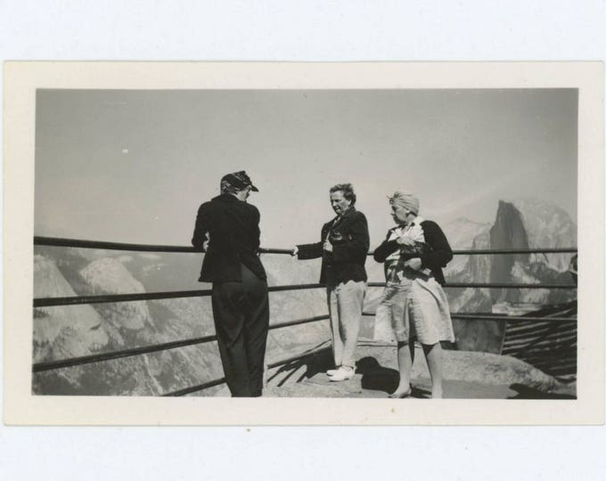 Vintage Snapshot Photo: On Top of the World, 1940s Yosemite, Half Dome (610506)