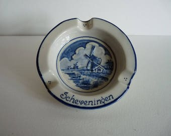 Vintage Delft 'Scheveningen' Ashtray